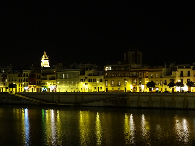 Guadalqivir at night