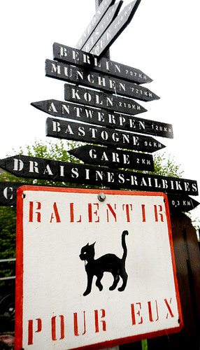 Sign near Dinant, Belgium