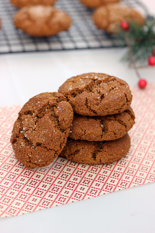 Grain-free Spiced Molasses Cookies - Gluten-free and Dairy-free // www.tasty-yummies.com