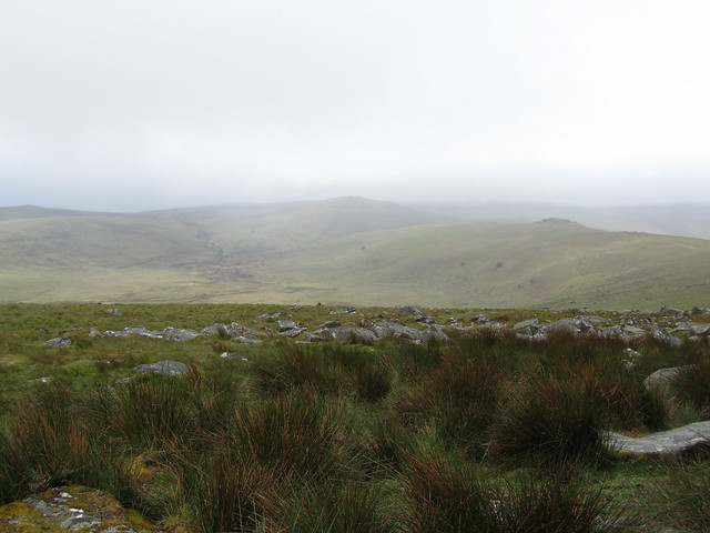 Taw Marsh, Steeperton Tor (middle), Oke Tor (right)