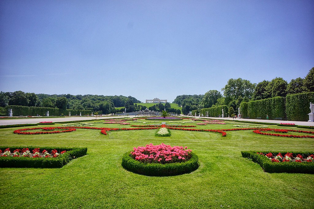 Grounds at Schonbrunn Palace Vienna