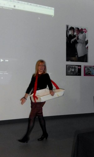Eithne Browne at Museum of Liverpool Reel Heroes event