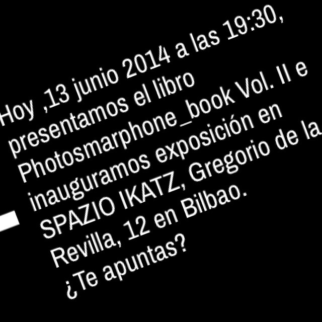 Photosmarthphone. 2014 Bilbao