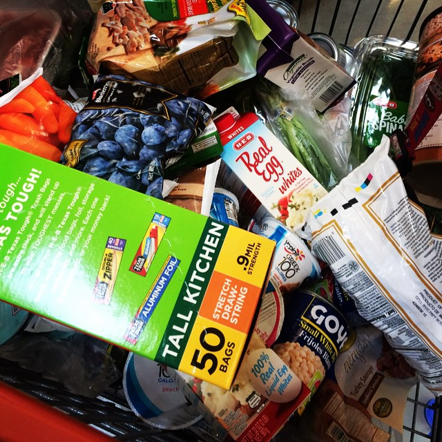 The grocery haul. Meal prep is happening soon and it has to be done in 90 mins. #donthavetimeforthat #fitfluential