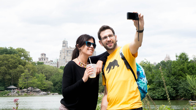Tourists Taking Selfie - Central Park