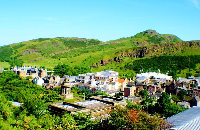 Landscape view of Arthur's Seat, Holyrood Park, Edinburgh.