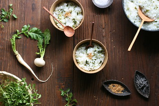 Seven-Herb Rice Porridge (Traditional food on January 7) | by Miki Nagata (bananagranola)
