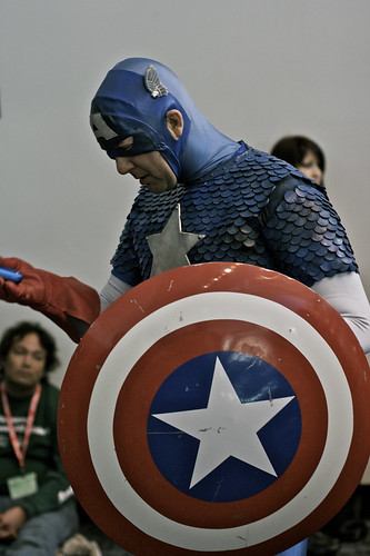 When Captain America Checks His Mighty Cell Phone | by Generik11