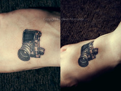 Camera tattoo | by Colleen McMahon Photography