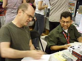 Charles Burns & Jaime Hernandez, MoCCA Art Festival, April 10, 2010 | by fantagraphics