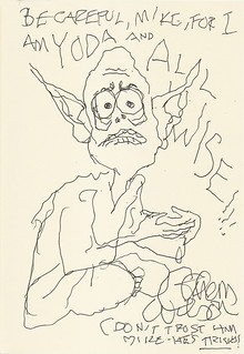 Yoda sketchbook vol. 3 page 6 - Gahan Wilson | by Mike Baehr
