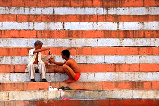 Bootlegging on the banks of the Ganges ... could also be a flag | by ... Arjun