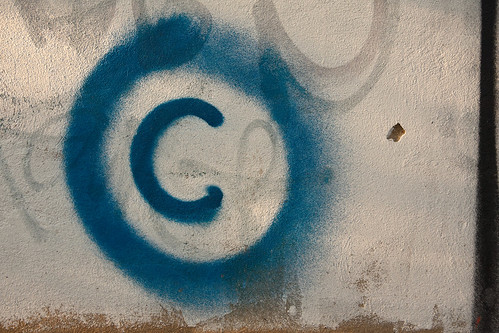 Large copyright graffiti sign on cream colored wall | by Horia Varlan