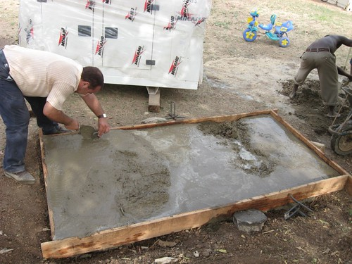 Laying Concrete Slabs : Laying concrete slab for new generator richard milena