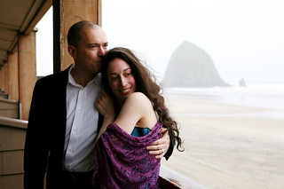 Looking wistful in front of haystack rock | by MissMarnie