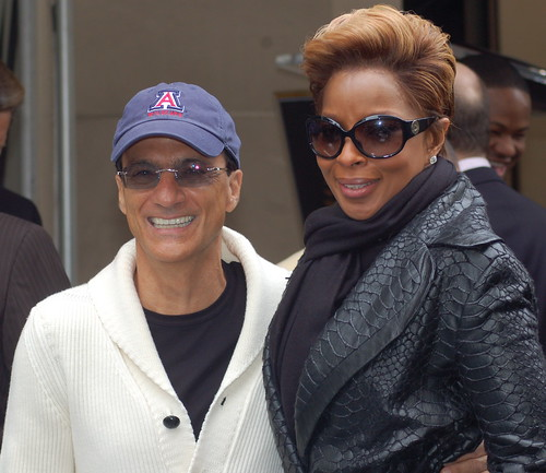Jimmy Iovine and Mary J. Blige | by Sharon Graphics