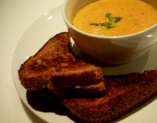 20100120 - creamy tomato soup + toasted cheese | recipe | Jean ...