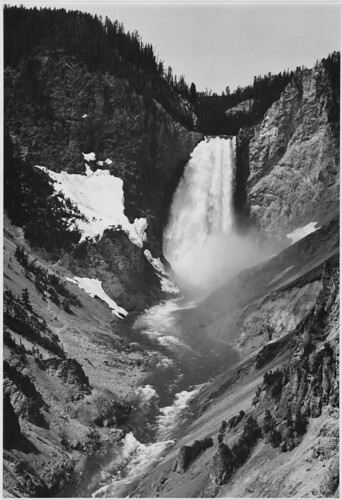 """Yellowstone Falls,"" Yellowstone National Park, Wyoming. (vertical orientation) 
