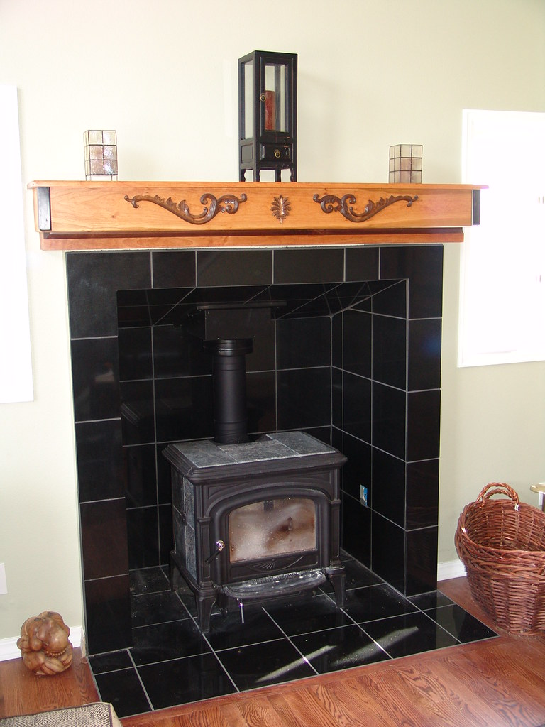 Wood Stove Fireplace Tile Flickr