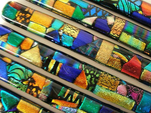 Mosaic Glass Border Liner Bar Tiles or Handles | by UNEEK GLASS FUSIONS