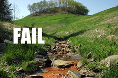 Runoff from a 'Reclaimed' Mountaintop Removal mine in Kentucky | by iLoveMountains.org