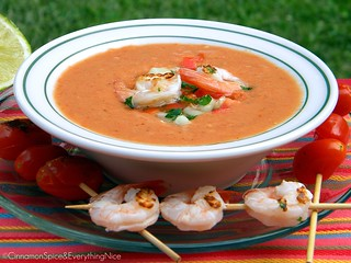 Gazpacho with Lime Chicken | by CinnamonKitchn