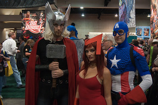 Avengers: Thor, Scarlet Witch and Captain America | by SBGrad