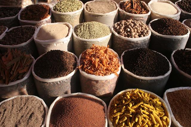 Spices, Mapusa market, Goa, India