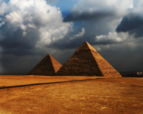 Khafre and Khufu's Great Pyramid | by janetfo747 ~ Thank You for the Views and Comments