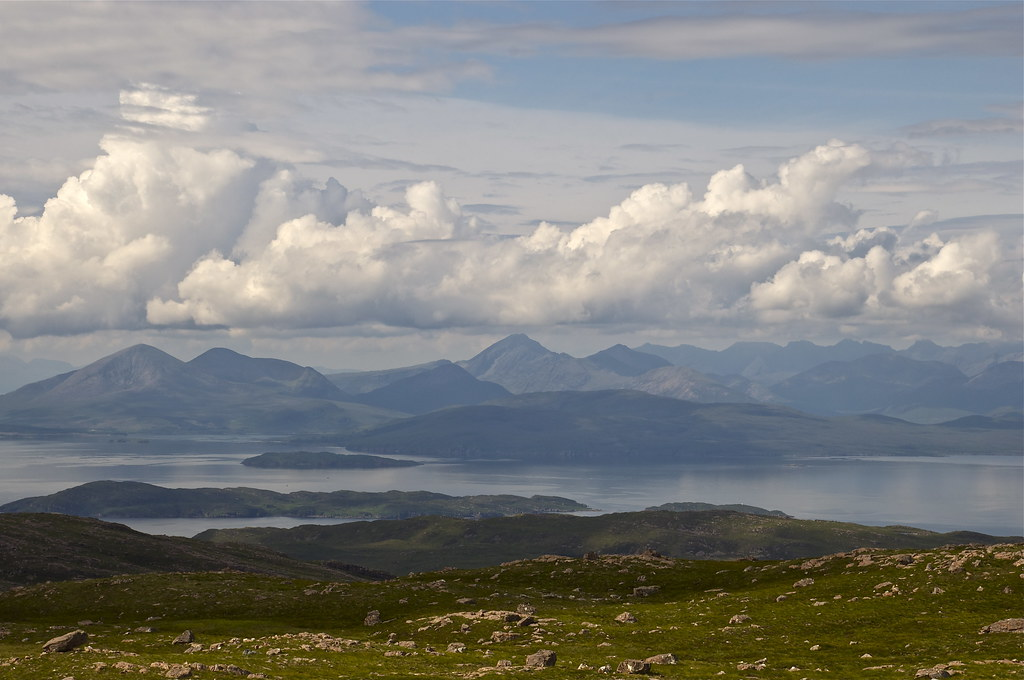 Skye and Cuillens from the Bealach na Ba