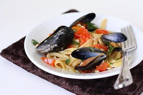 Fettuccine with Mussels | by Tracey's Culinary Adventures