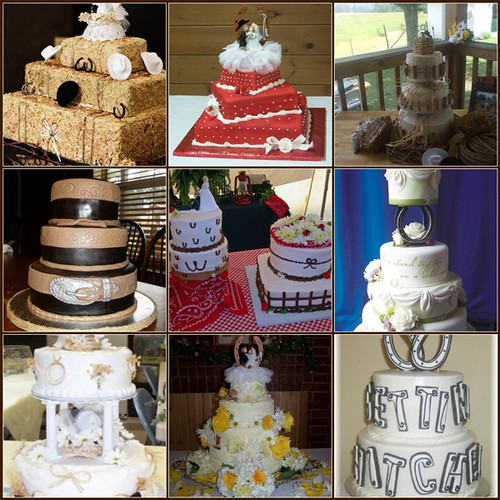 Country Western Wedding Cakes Montage of my favorite ...