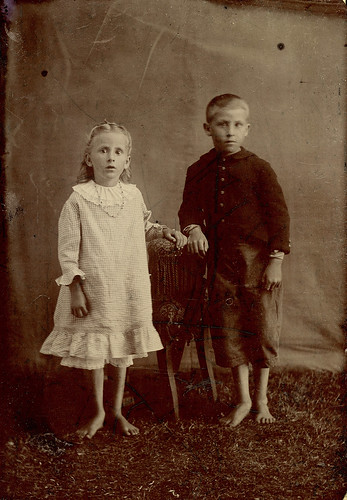 Barefoot Children in Tent Tintype | by depthandtime