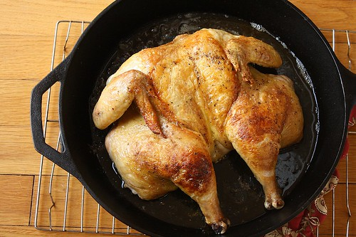 Flat Roast Chicken | by Tracey's Culinary Adventures
