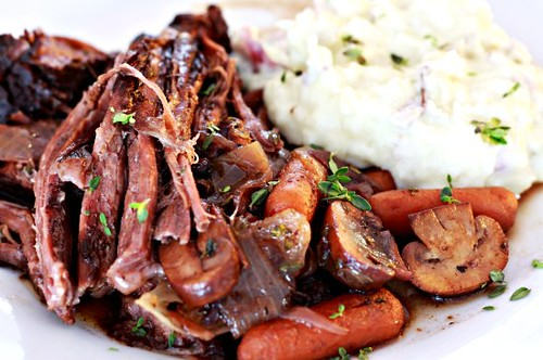 Blueberry & Mushroom Pot Roast | by The Noshery