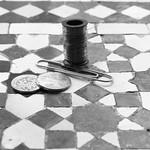 coins, paper clip, wire (crop)