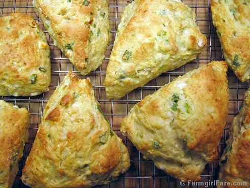 Easy Savory Cheese and Scallion Scones with Feta | by Farmgirl Susan