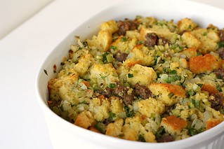 Cornbread & Sausage Stuffing | by Tracey's Culinary Adventures