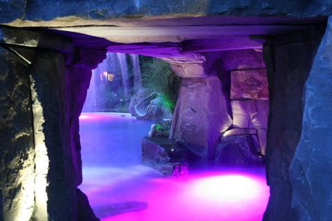 Swimming Pool Grotto With Fiber Optic Lighting Fiber Optic Flickr
