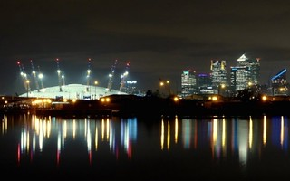 Canary Wharf skyline at night, London, UK   reflection | by Sir Francis Canker Photography ©
