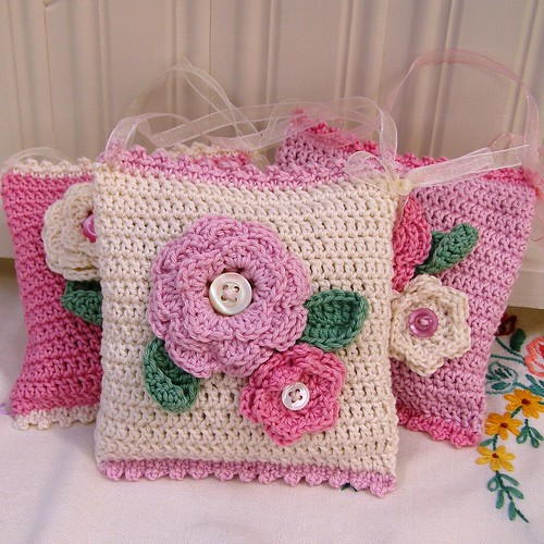 Crochet Lavender Bags padleigh Flickr