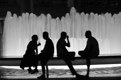 Two Couples, Lincoln Center, NYC,  Hot Summer Night | by GregMitch