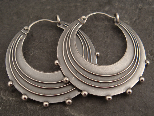 lg. sterling hoops | by downtothewiredesigns