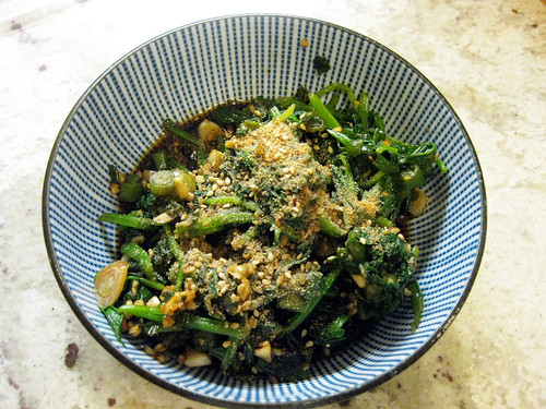 Tania's spinach side dish (sigeumchi namul) | by maangchi