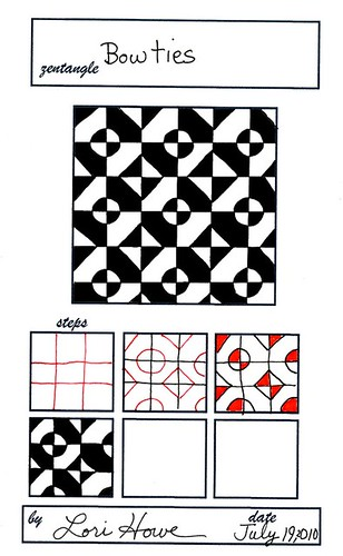 Bowties lacefairy1 flickr for Zentangle tile template