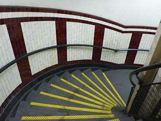 emergency stairs, Belsize Park Undergound station, London