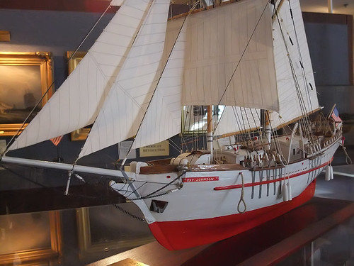 Model by Elmer Toman of the Sail Training Brigatine ST/V Exy Johnson commissioned in 2003 | by mharrsch
