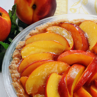 Fresh Nectarine Pie post squared | by Salad in a Jar