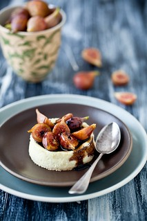 Goat Cheese Custard With Figs & Balsamic Syrup | by tartelette