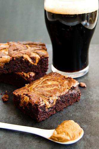 Chocolate Stout Brownies with Peanut Butter Swirls | by raspberri ...